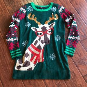 EUC 32 Degrees Tacky Christmas Tunic Sweater